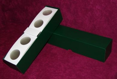 "2½"" x 2½"" Cardboard Coin Flips w/Green storage boxes. (150 per box)"