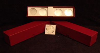 "2"" x 2"" Cardboard Coin Flips w/Red storage boxes. (100 per box)"