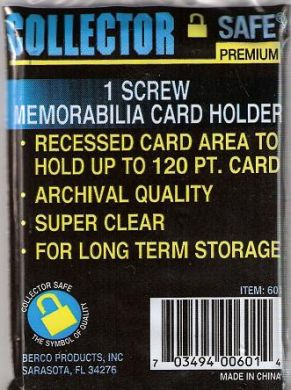 Thick 120pt - 1 Screw Recessed Card Holder