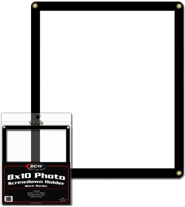 8 X 10 Photo Screwdown Holder - Black Border