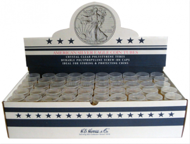 Round storage tubes for American Silver Eagle
