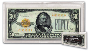 Large Bill  Currency Slab