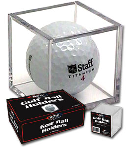 Crystal clear Golf Ball display cubes
