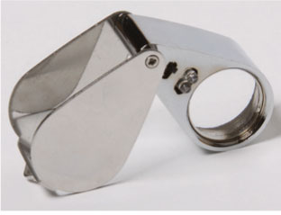 10 Power, 21mm Premium UV Illuminated LED Jewelers Loupe