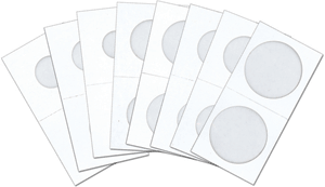 "'1½"" x 1½"" Cardboard Coin Flips, Bundles of 50 flips per pack. *BULK, NO BOXES*"