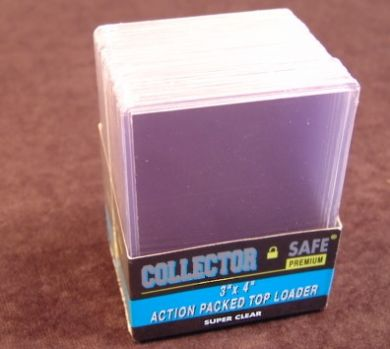 COLLECTOR SAFE 3 X 4 Action Packed Toploads 50pt