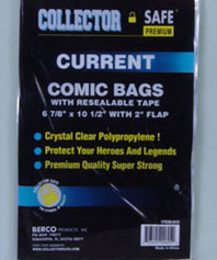 Current Size Comic Bags w/Resealable Tape