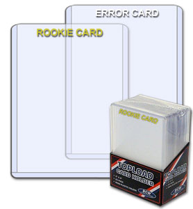 "BCW 3"" X 4"" White Emprinted ""ERROR CARD"" Toploaders"